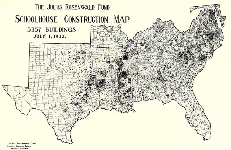 Map of Rosenwald Schools, 1932.