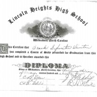 Lincoln Heights High School Diploma